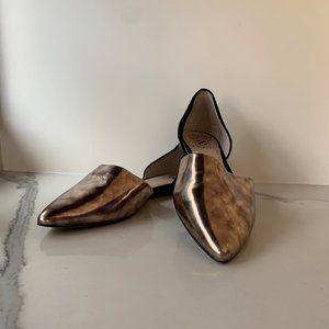Vince Camuto D'Orsay metallic flats